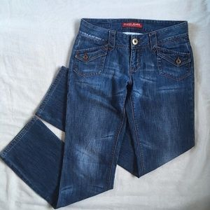 Guess Distressed Boot Cut Jean Flap Pocket size 27